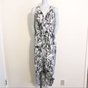 ASTR Abstract print High Low dress DB7